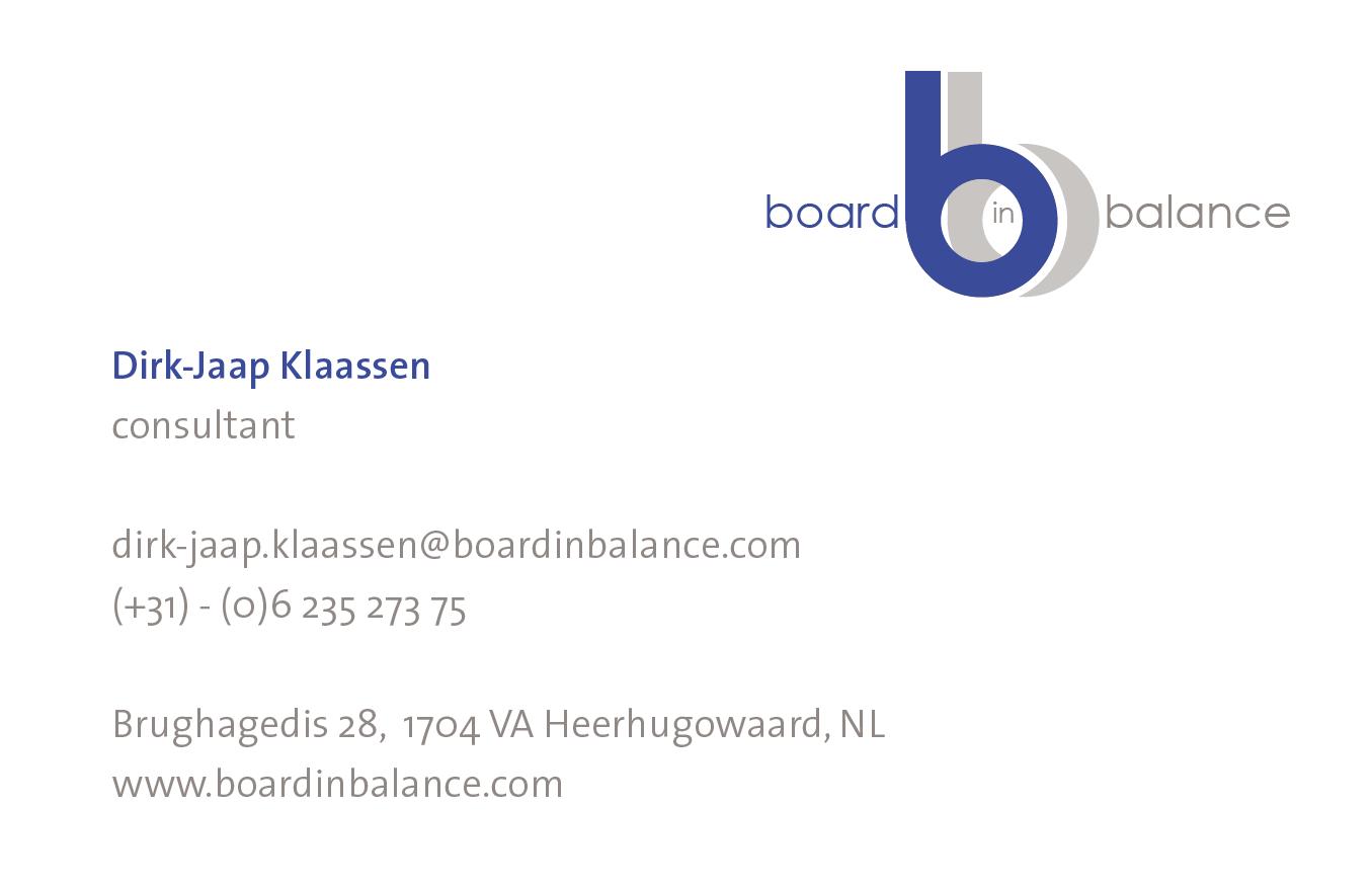 Business Card Dirk-Jaap Klaassen