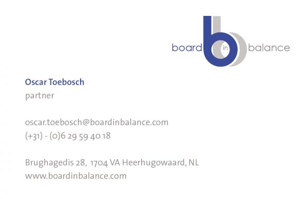 Businesscard Oscar Toebosch